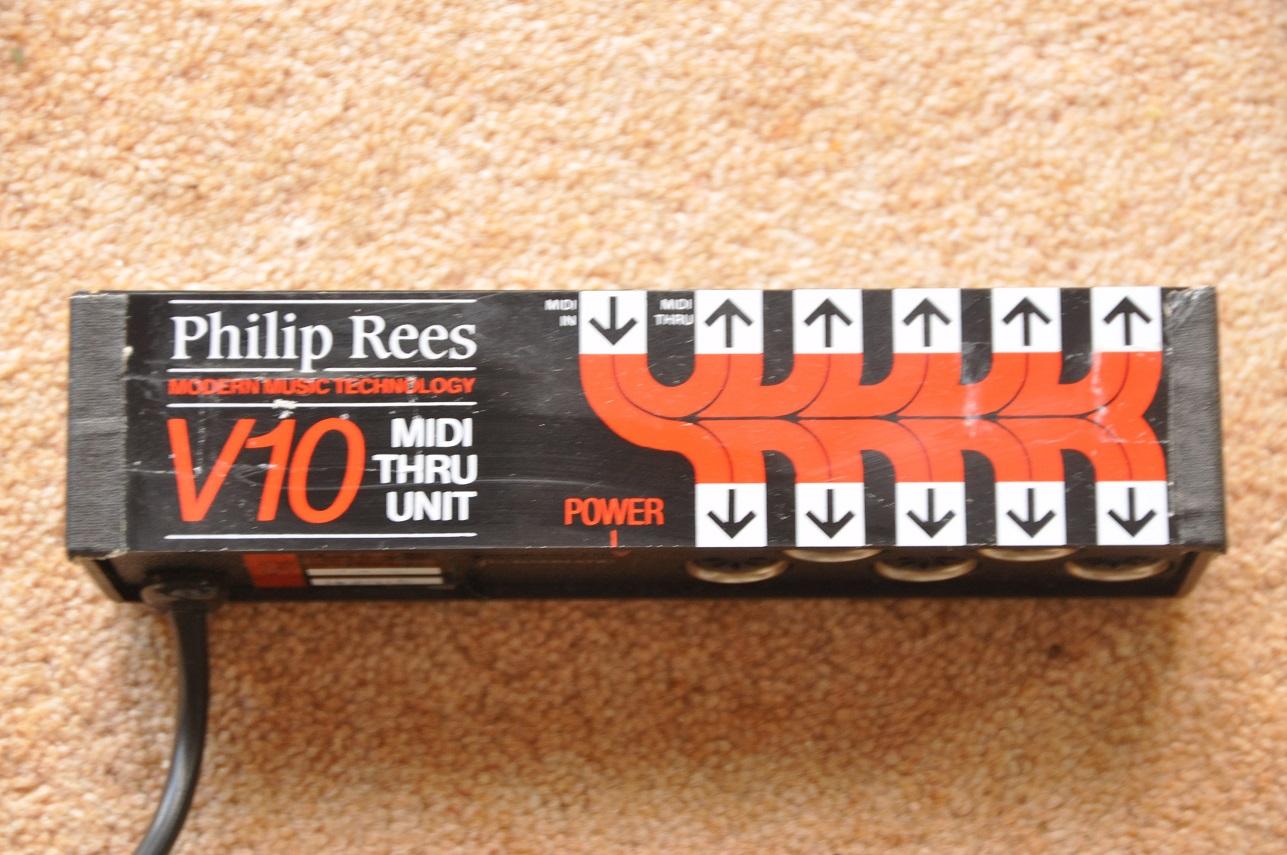 Philip Rees V 10 Midi Thru Unit Audio/midi Interfaces
